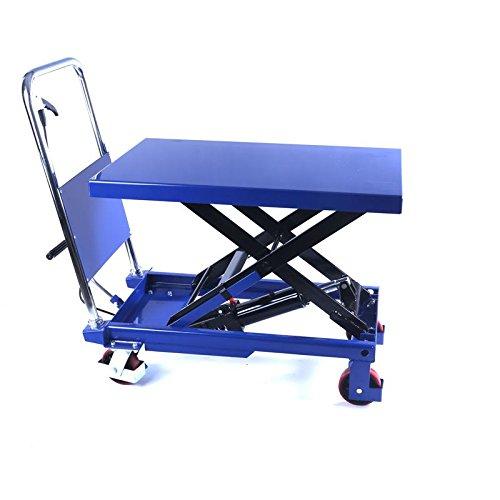 Hydraulischer, fahrbarer Hubtisch 1000 kg - Plattformwagen - Hubstapler