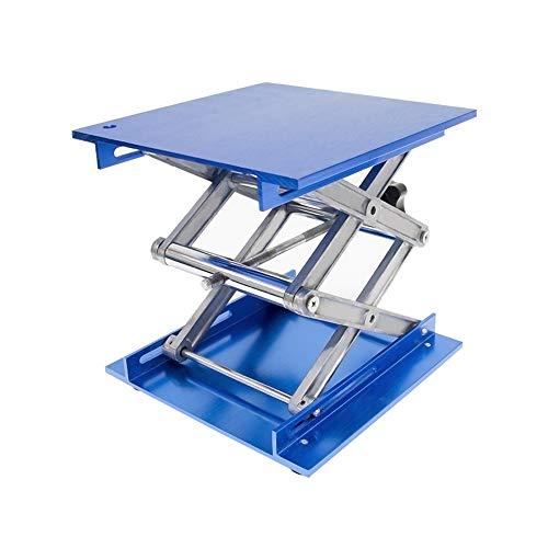 Wisamic Laborständer aus Alumina, 200 x 200 mm, Scherenhebebühne, Höhe 82-310 mm, Tragkraft 10 kg