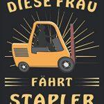 DIESE FRAU FÄHRT STAPLER: Liniertes Notizbuch-Tagebuch bzw. Übungsbuch mit 120 Seiten